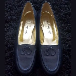 St. John Italy Leather Loafers Sz 8.5